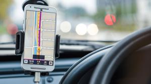 Uber driver using app