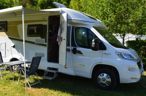 Motorhome with Awning