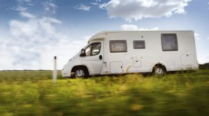 Motorhome Travelling on Road