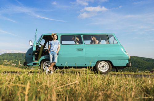 Young People in Campervan